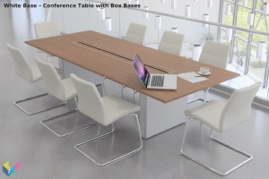 White Base Prestige Meeting Table