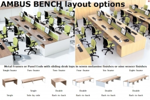 Ambus Bench Desk Layout Options