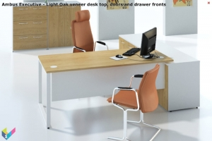Ambus Executive Desk in Light Oak veneer