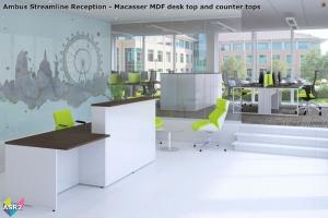 Ambus Streamline Reception - Rectangular Reception Desk 02