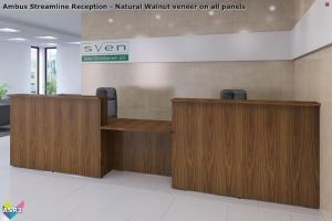 Ambus Streamline Reception - Rectangular Reception Desk 03