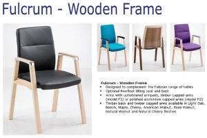 Fulcrum Wooden Frame Meeting Chairs
