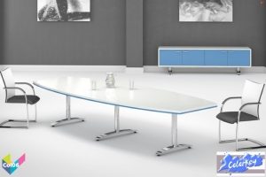 Tula Colorkey, Barrel Colorkey Funky White Meeting Table