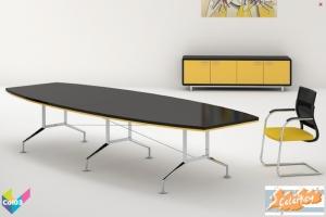 Tula Colorkey, Barrrel Colorkey Funky Black Meeting Table Gold