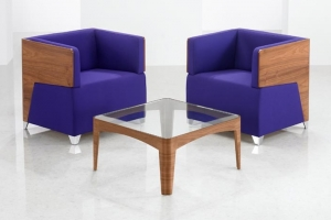 Friday Reception Seating with Wooden Shells