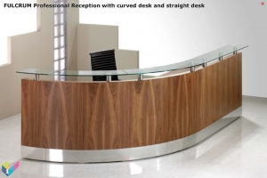 Fulcrum Professional Reception Desk Natural Walnut veneer