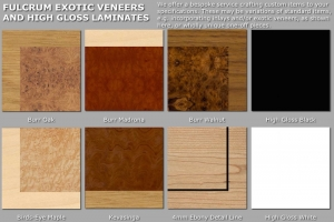 Fulcrum exotic veneer finishes for website