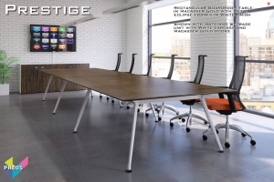 Prestige Boardroom Tables 05 - Eclipse Rectangular Boardroom Table