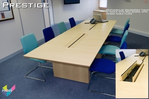 Prestige Boardroom Tables 09 - Rectangular Boardroom Table