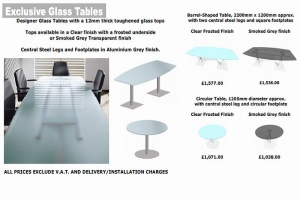 Glass Meeting and Conference Tables