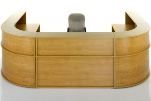 Hawk Reception Desk from Front