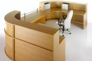 Hawk Reception Desk from Side