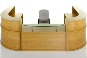 Hawk Reception Desk with Glass Shelf