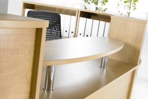 Hawk Reception Desk Oval Shelf