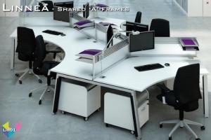 Linnea Office Bench Desks 01 - Linnea Bench Desking