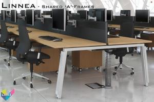 Linnea Office Bench Desks 03 - Linnea Bench Desking