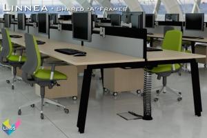 Linnea Office Bench Desks 05 - Linnea Bench Desking