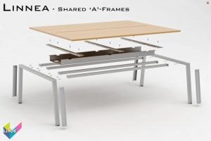 Linnea Office Bench Desks 08 - Linnea Bench Desking