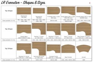 LR Executive Desks - Top Shapes