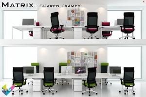 Matrix Office Bench Desks 01 - Matrix Bench Desking