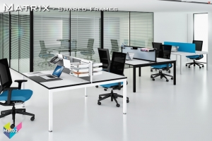 Matrix Office Bench Desks 02 - Matrix Bench Desking
