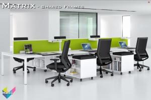 Matrix Office Bench Desks 03 - Matrix Bench Desking
