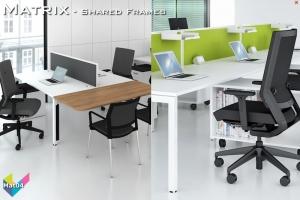Matrix Office Bench Desks 04 - Matrix Bench Desking