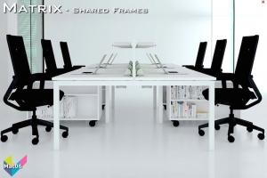 Matrix Office Bench Desks 06 - Matrix Bench Desking