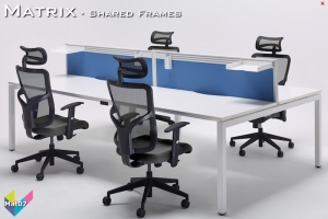 Matrix Office Bench Desks 07 - Matrix Bench Desking