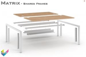 Matrix Office Bench Desks 08 - Matrix Bench Desking