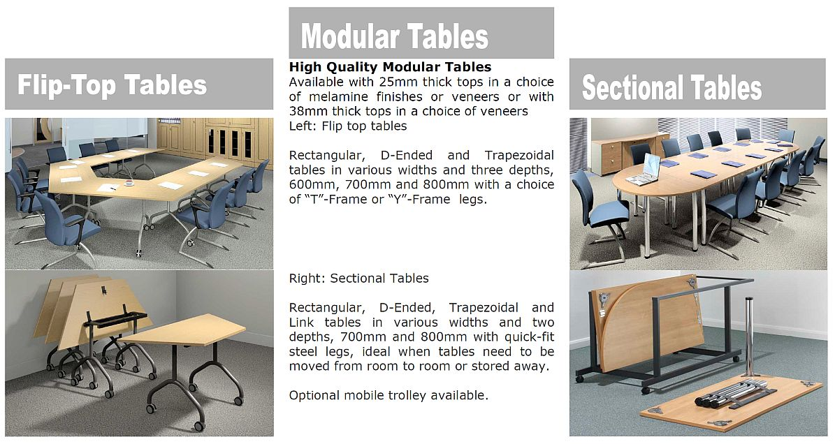 Reconfigurable Modular Tables Boardroom Furniture