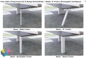 X-Range Bench Desks - Frames Styles