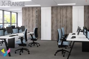 X-Range Bench Desks with Black frames