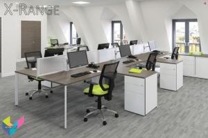 X-Range Bench Desks with fixed returns
