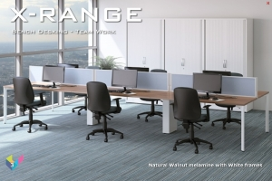 X-Range Bench Desk with Screens