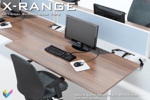 X-Range Bench Desk with Sliding Tops