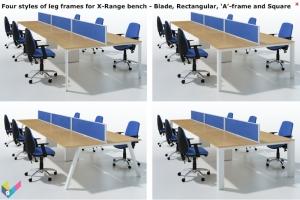 X-Range Bench frame styles