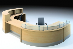 X-Range DDA Compliant Reception Desk in Oak