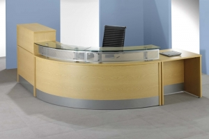 X-Range DDI Compliant Reception Desk in Oak