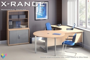 X-Range Executive Desk with Meeting Extension