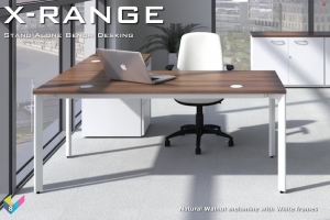 X-Range Office Furniture - Single Bench Desk with Return