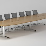 Boardroom table render with special edge detail