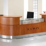Fulcrum reception desk by Sven Christiansen