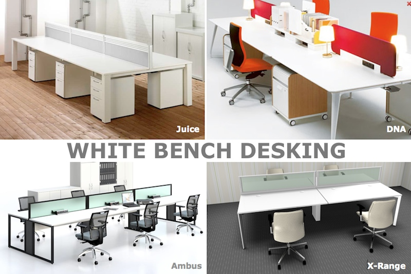 office desking. Bench Desking - White Office Furniture
