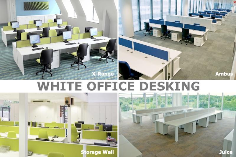 White Desking - White Office furniture