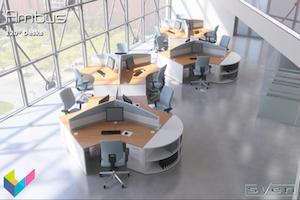 Sven Christiansen Furniture - Ambus 120 Degree Desks