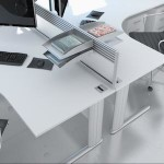 White Corner Desking